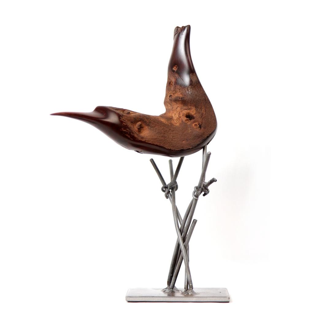 Bird on reeds