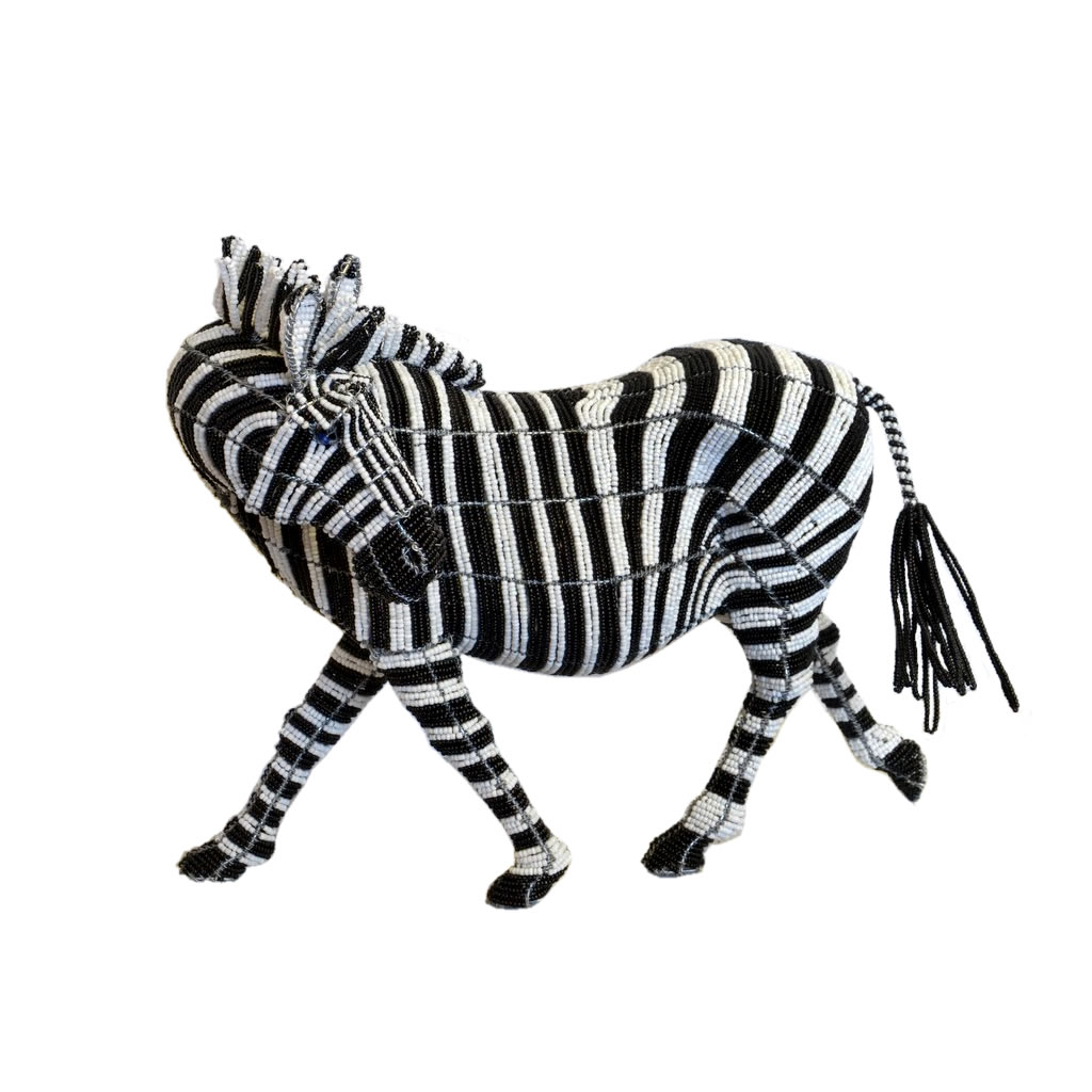 Zebra - Bead Sculpture - Small