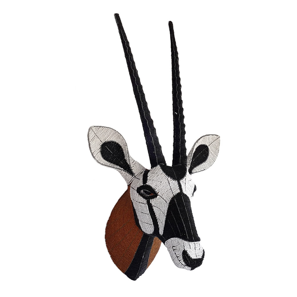 Gemsbok - Bead Trophy Head - Masterpiece