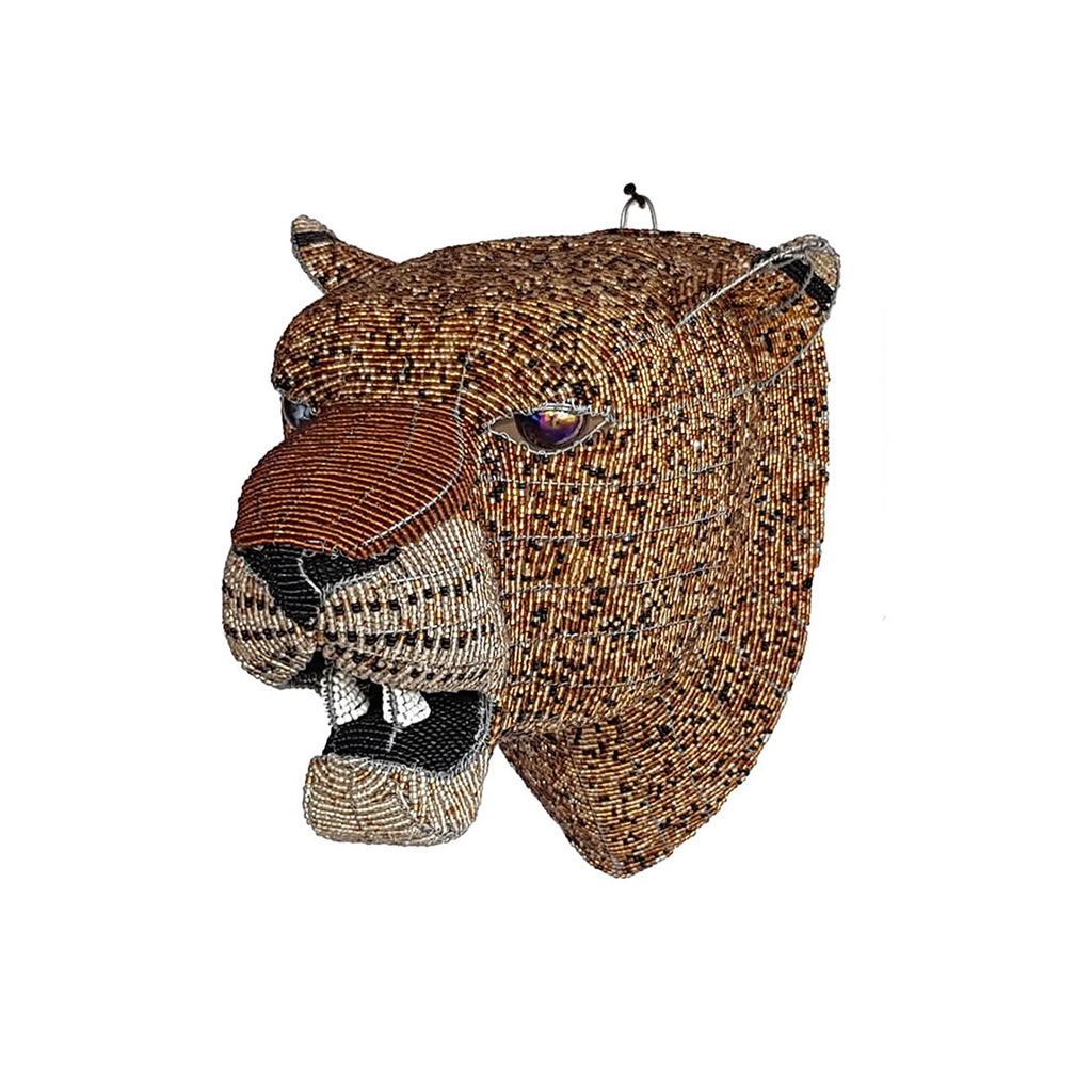 Leopard - Bead Trophy Head