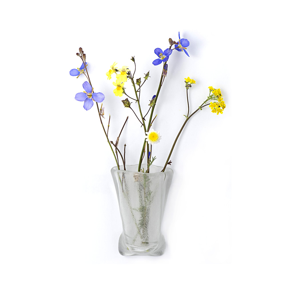 Fridge Magnet Vase - Clear Glass
