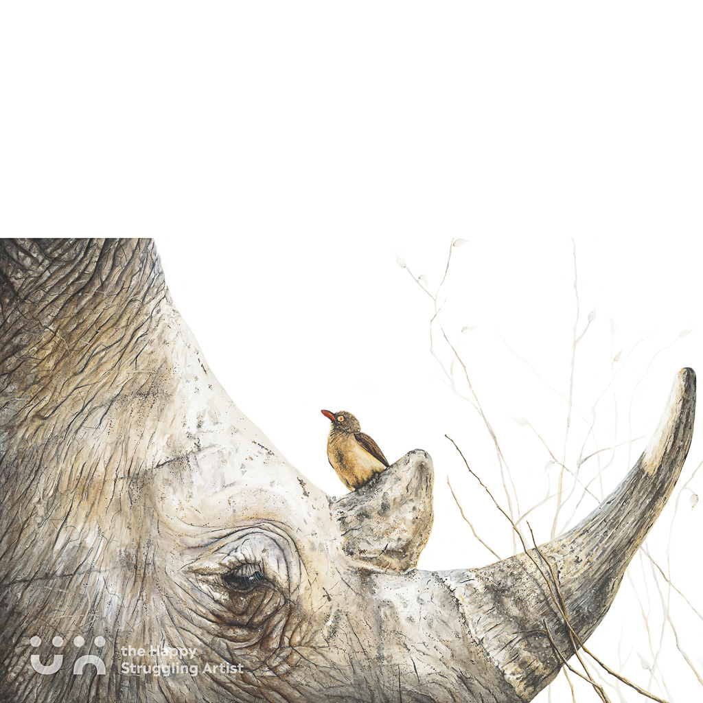 Fine Art Print - The Sentinel - Rhino