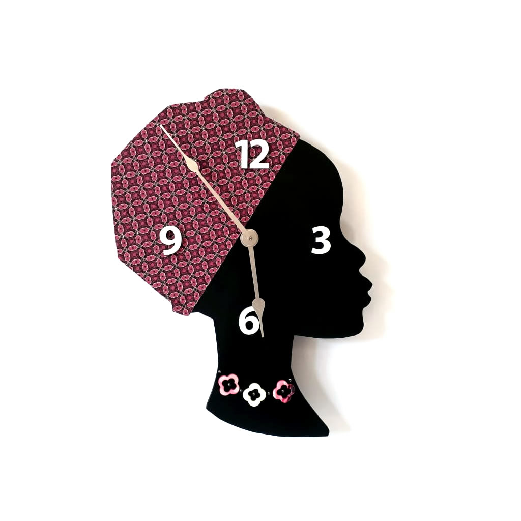 Clock - Wall Mounted - Pink Bling