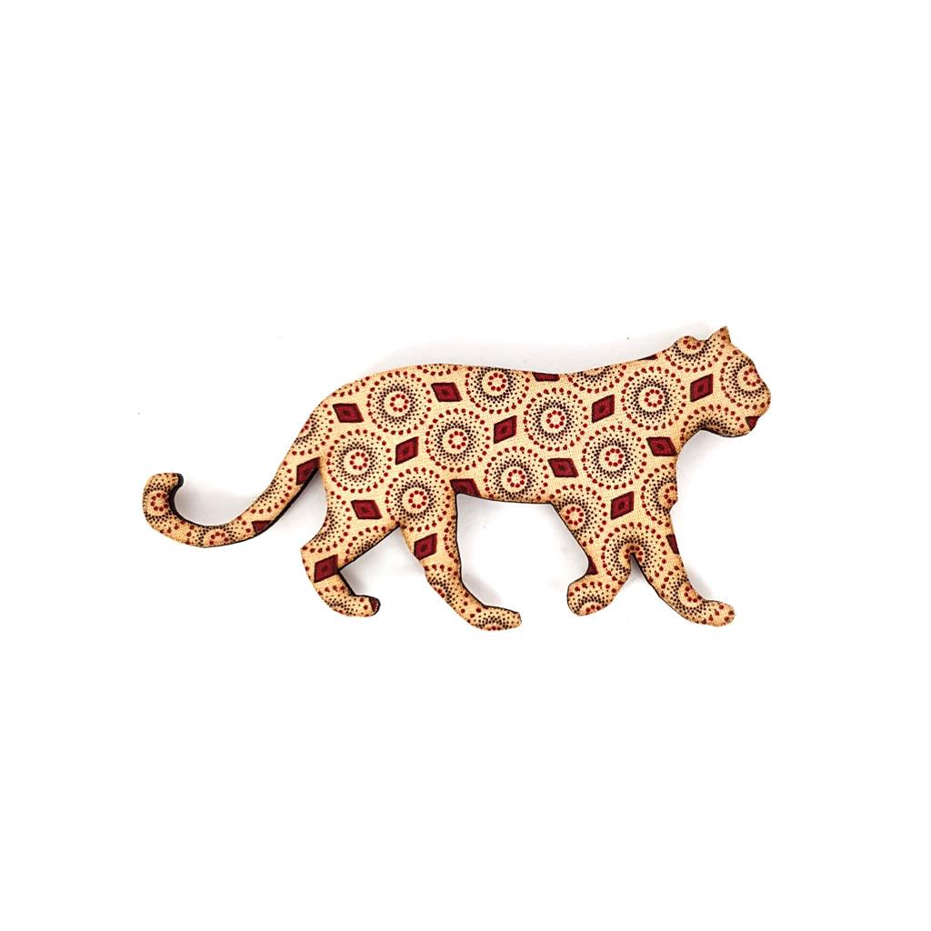 Fridge Magnet - Cheetah - Beige