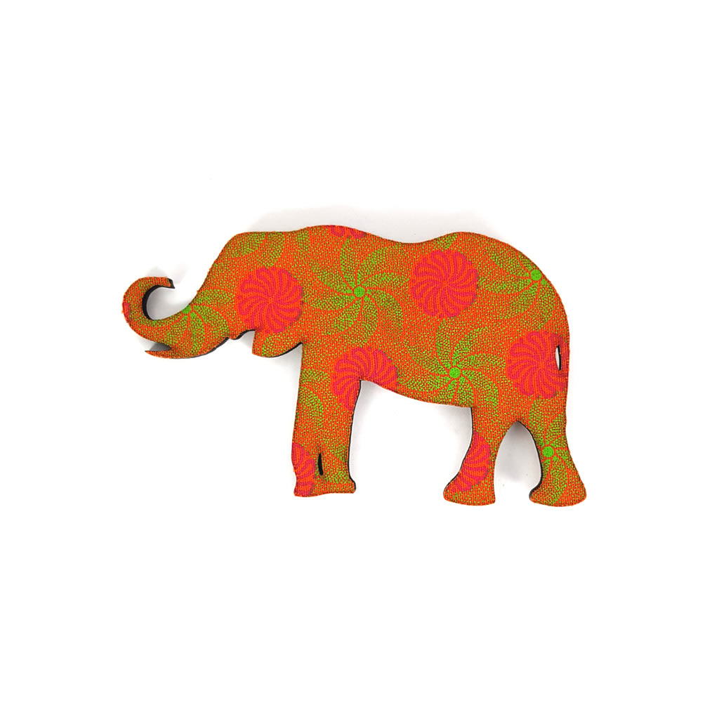 Fridge Magnet - Elephant - Orange