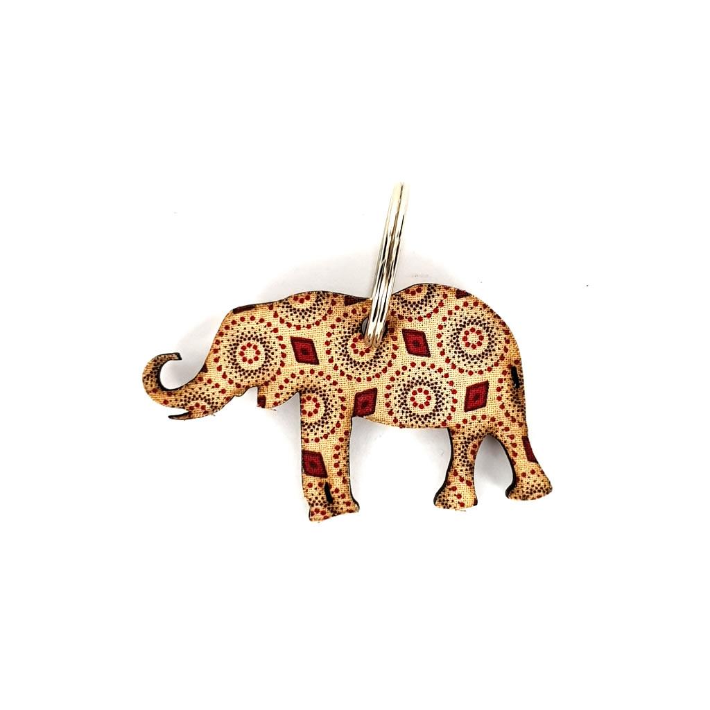Keyring - Elephant - Beige