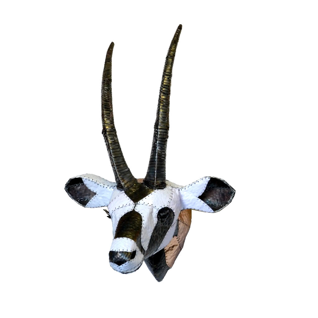 Gemsbok - Trophy Head - White & Black