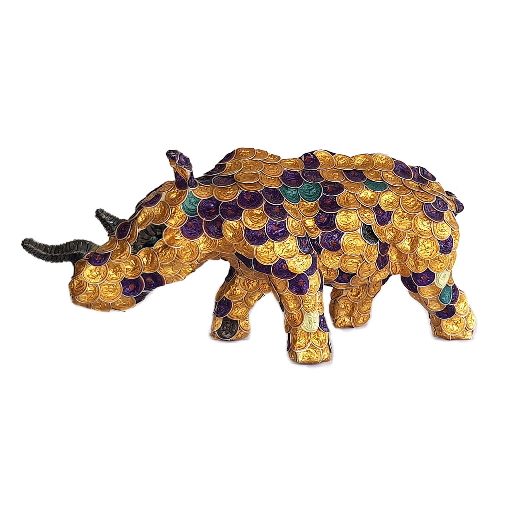 Rhinoceros - Recycled Coffee Pods - Small