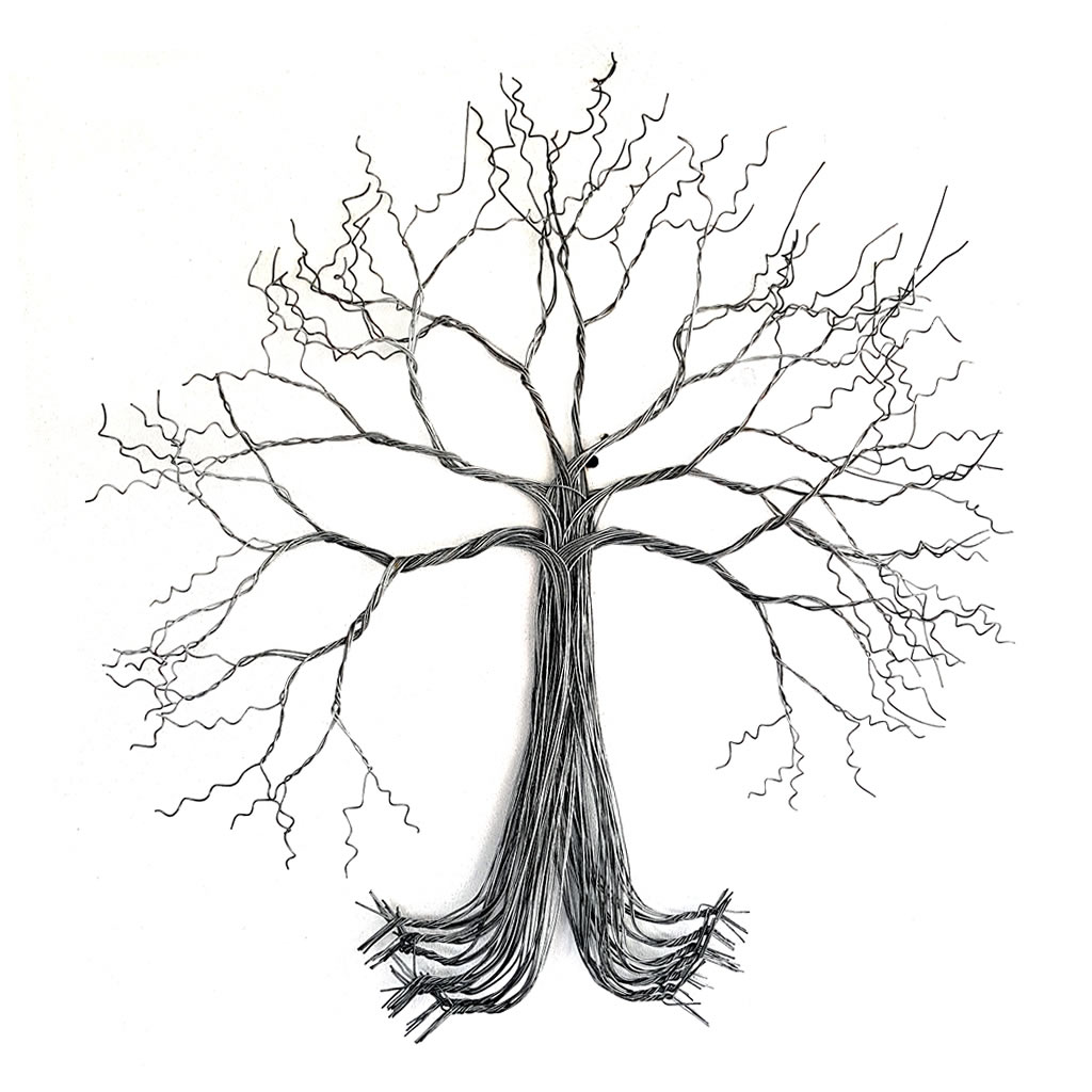 Tree - 2D in Wire - Large