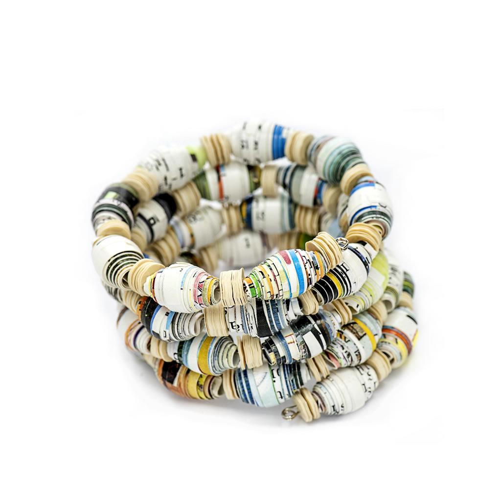 Bracelet - Paper Beads - Spiral