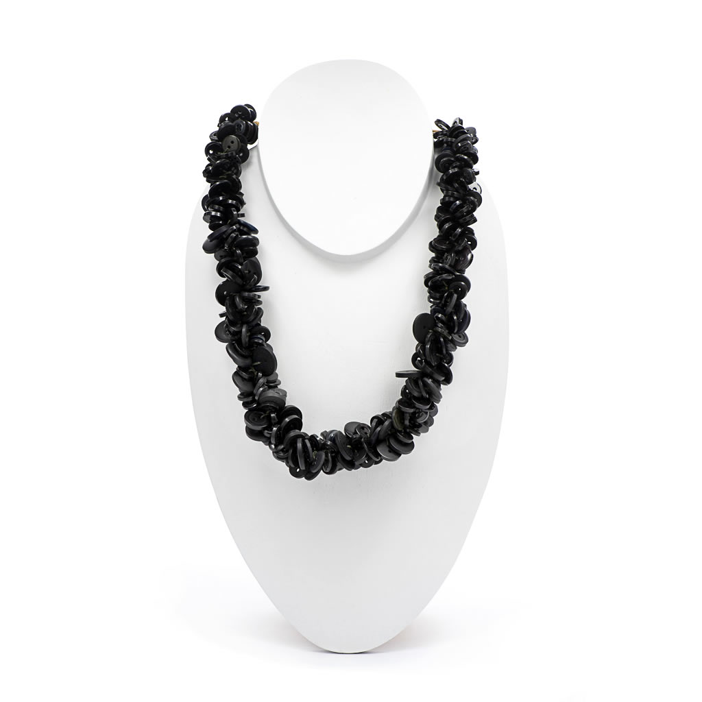 Necklace - Buttons - Black
