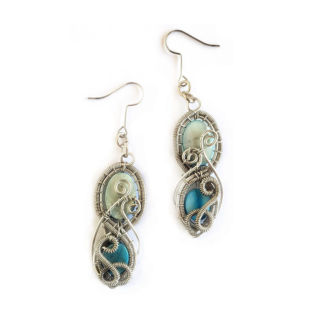 Earrings - Mother of Pearl - Blue