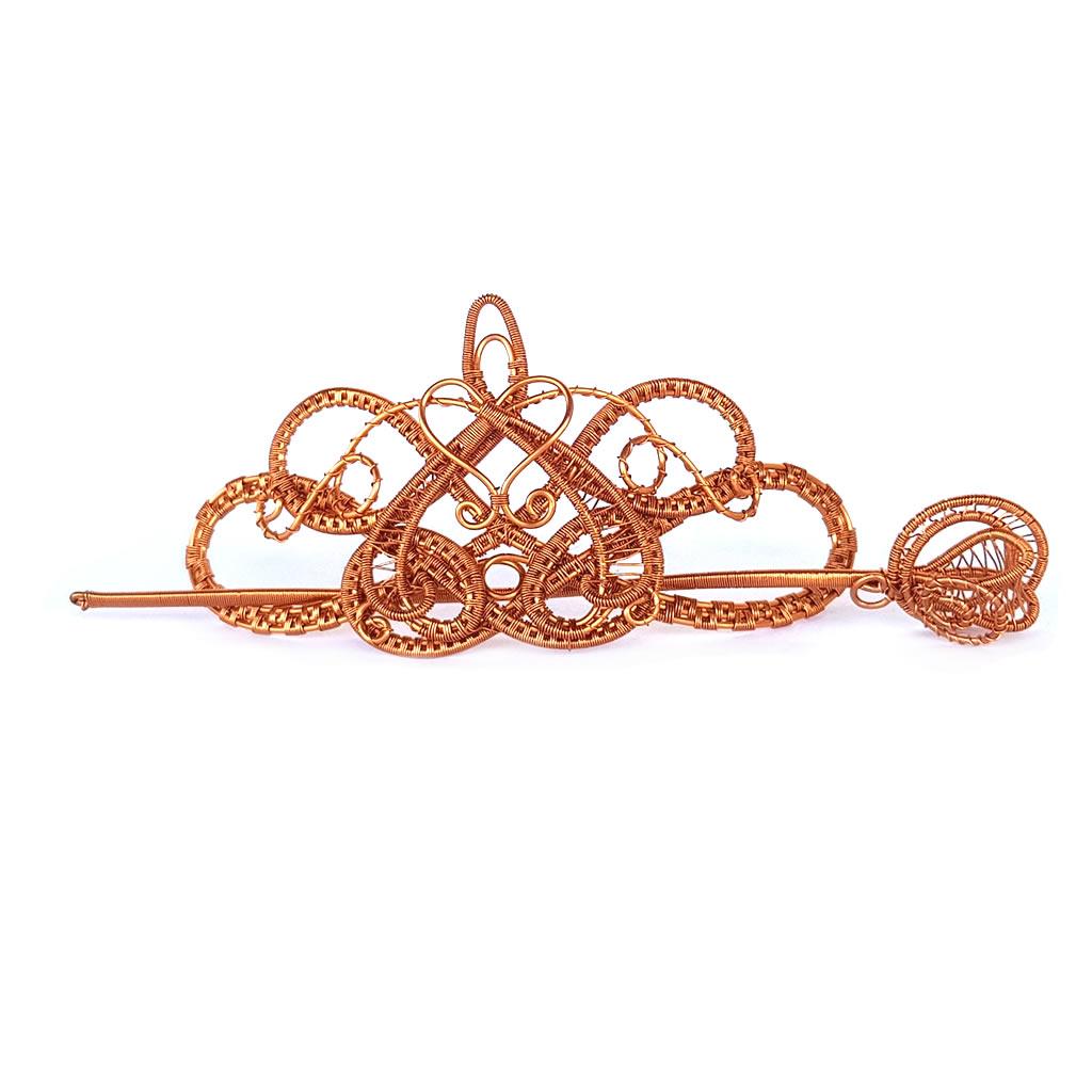 Hair Barrette - Copper Wire