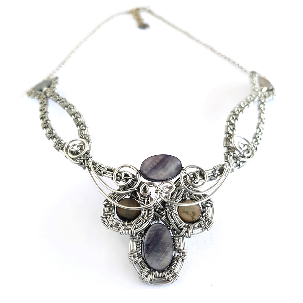 Necklace - Mother of Pearl - Black
