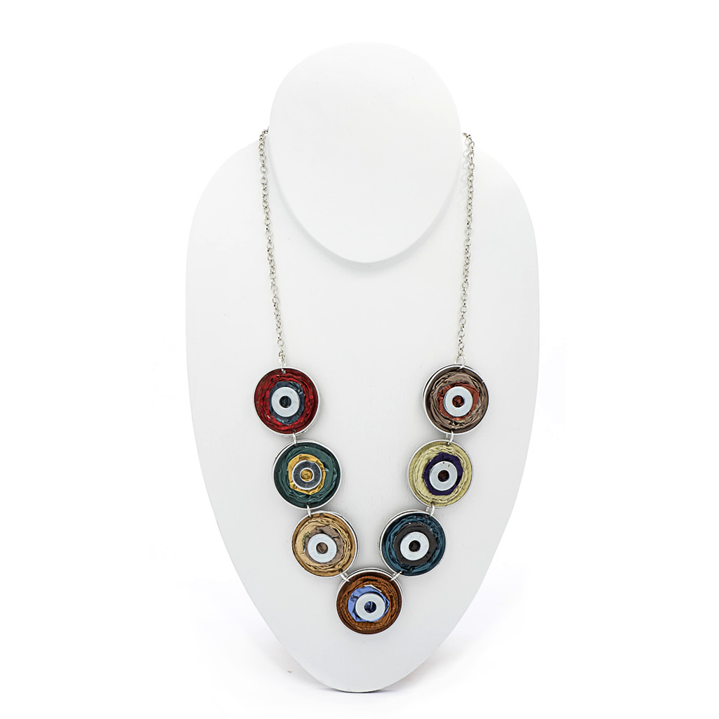 Necklace - Recycled Coffee Pods - Circles