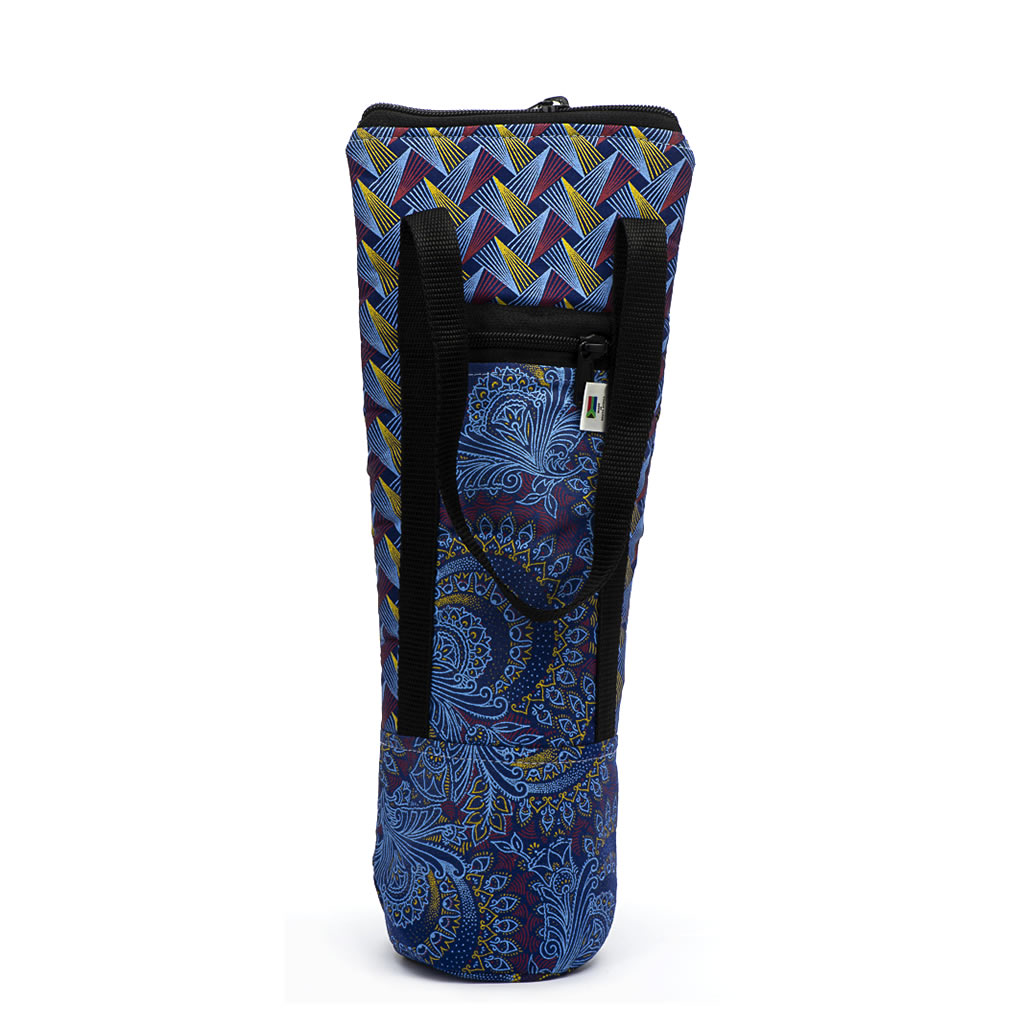 Wine Bottle Bag - Shweshwe - Blue