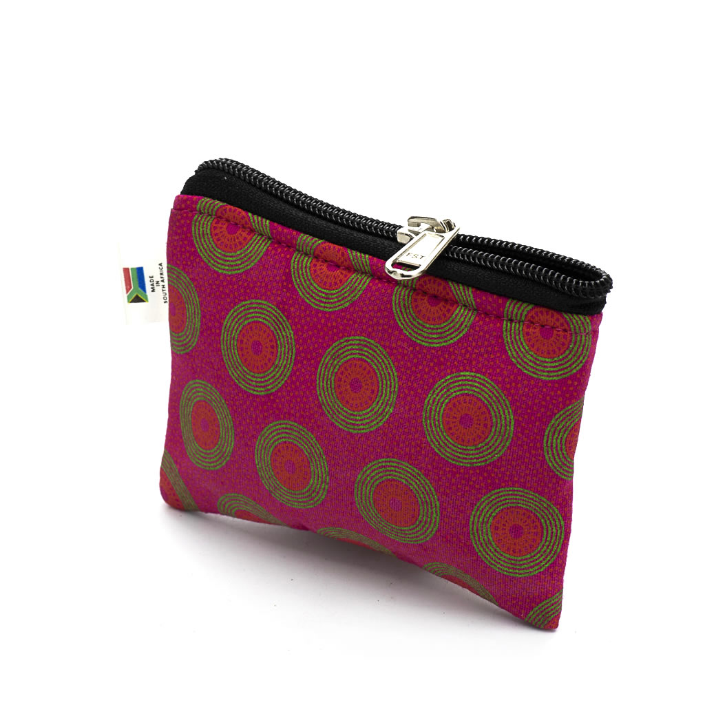 Purse - Shweshwe - Small - Pink