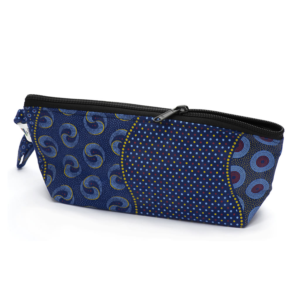 Shweshwe Toiletry Bag - Small - Blue