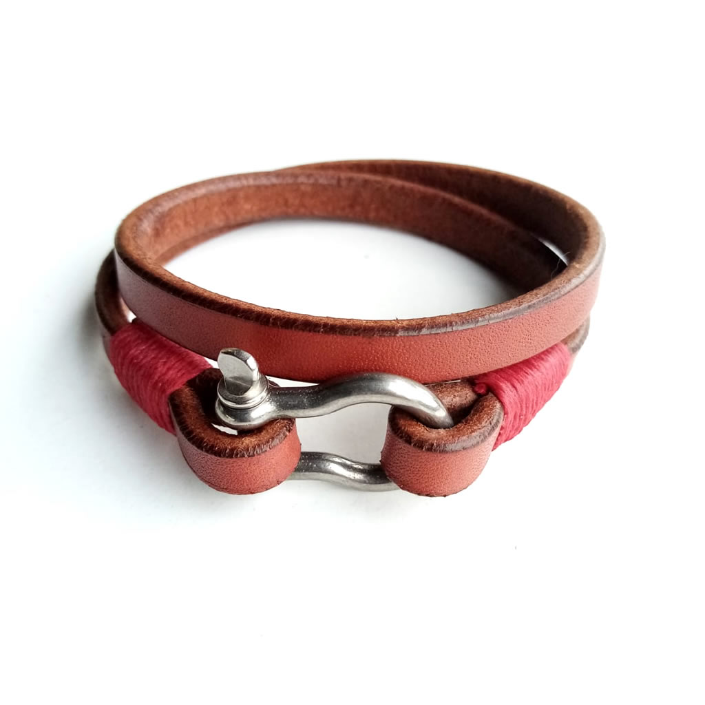 Leather (Double) Shackle Bracelet