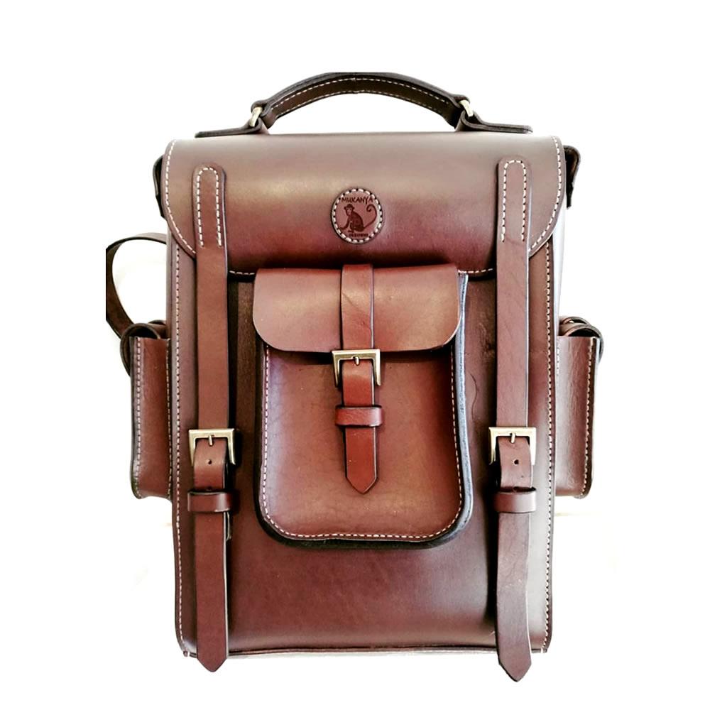 Leather 'Big Boy' Satchel - Brown