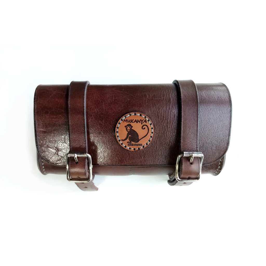 Leather Bicycle Saddle Bag - Brown