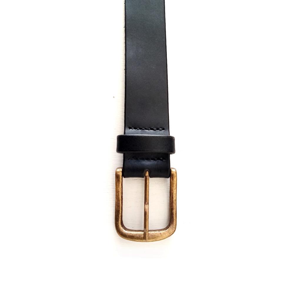 Leather Belt - Mens - Black