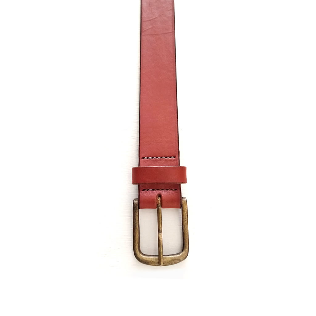 Leather Belt - Mens - Chestnut
