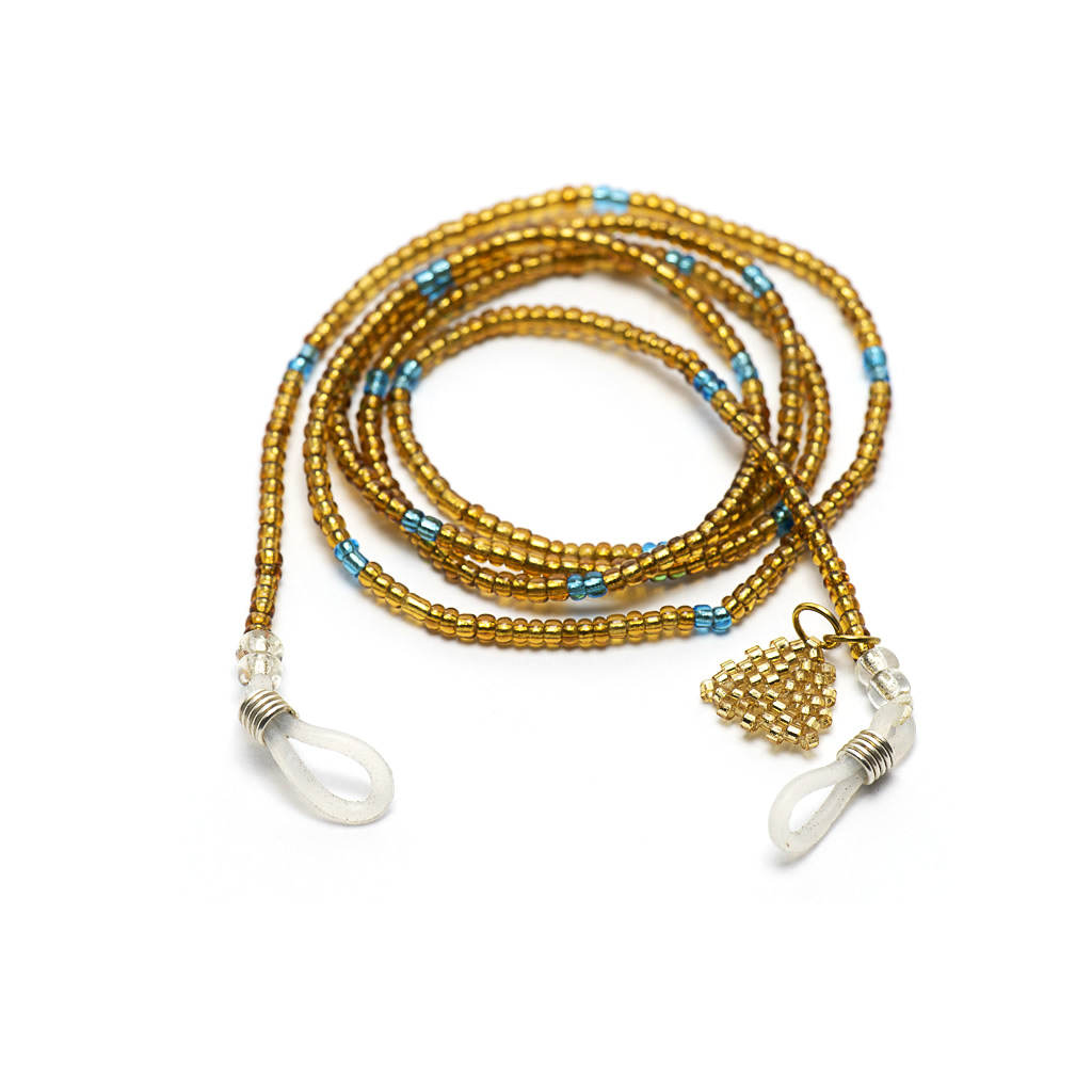 Sunglasses Chain in Seed Beads - Gold