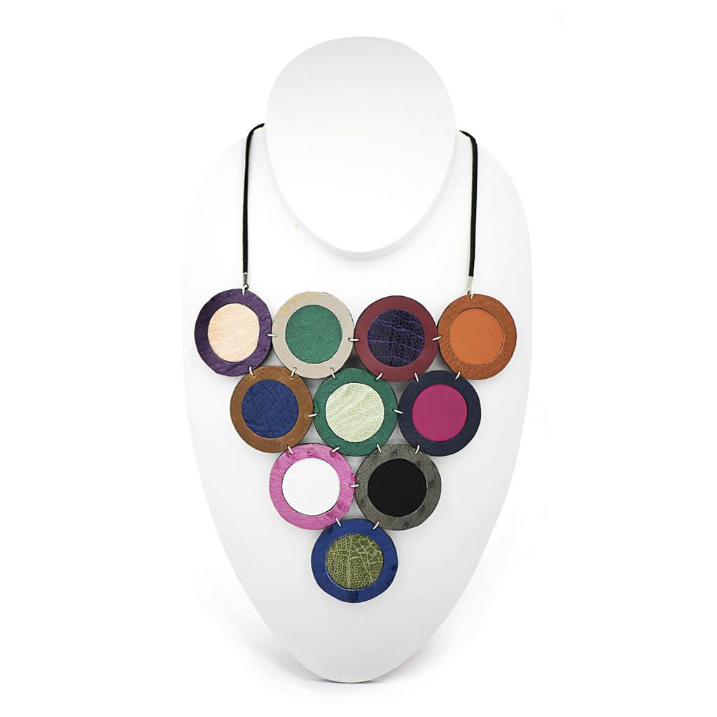 Neckpiece - Indwe Multi - Leather - Colours