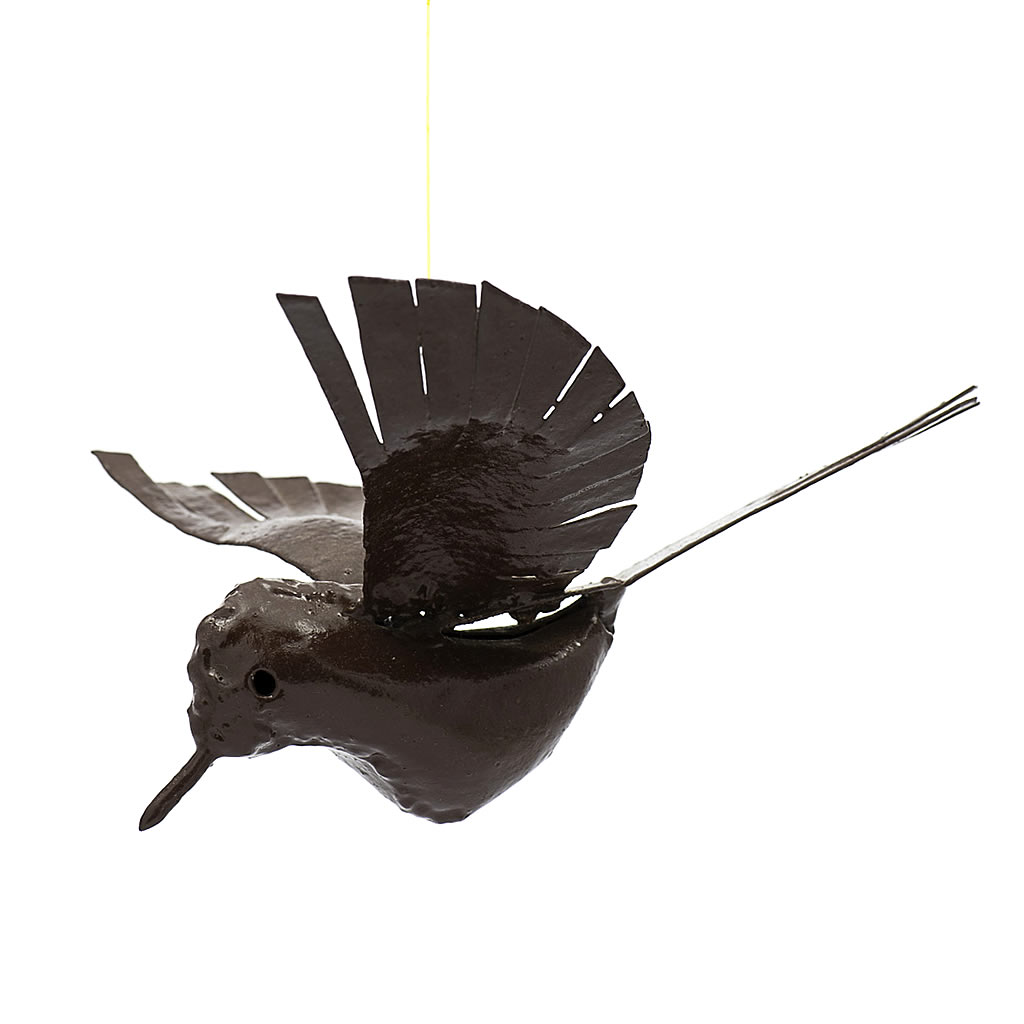 Bird - Flying - Recycled Metal - Square Tail