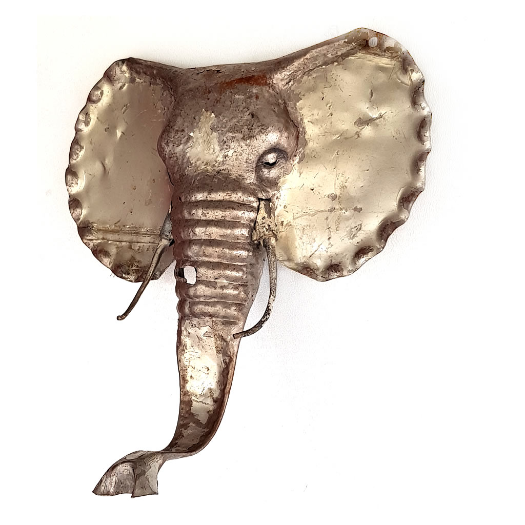 Elephant - Trophy Head - Recycled Scrap Metal