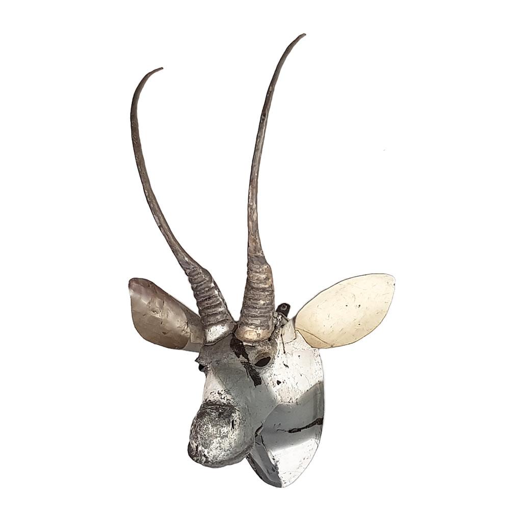 Sable - Trophy Head, Recycled Scrap Metal