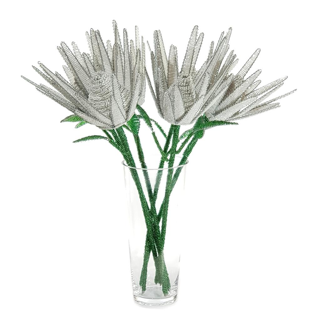 Protea - White - Bead & Wire Masterpiece