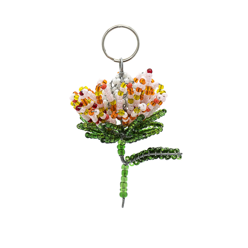 Keyring - Protea - Bead and Wire