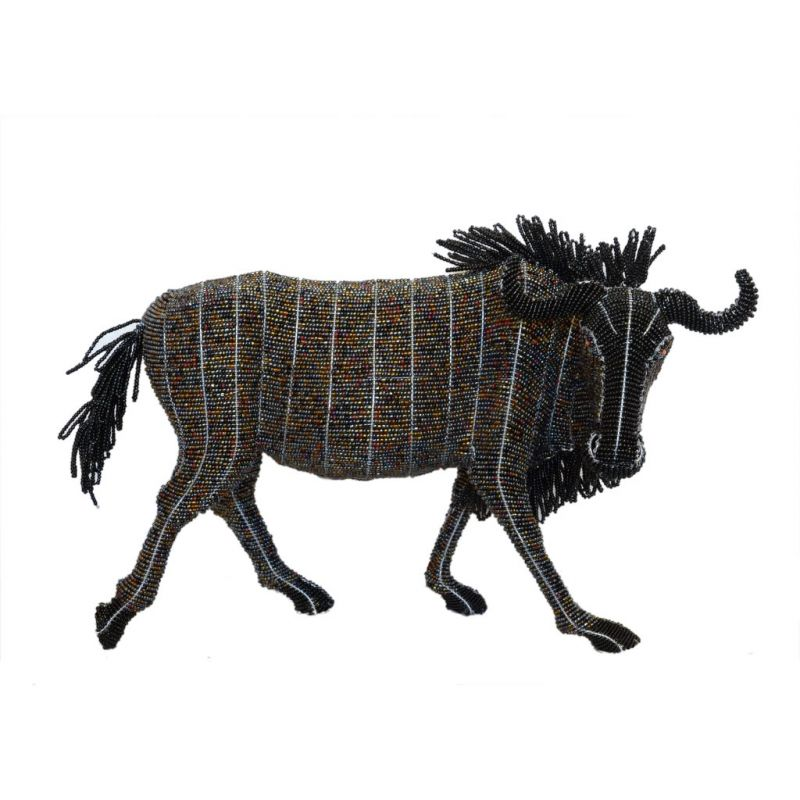 Wildebeest - Bead Sculpture - Small