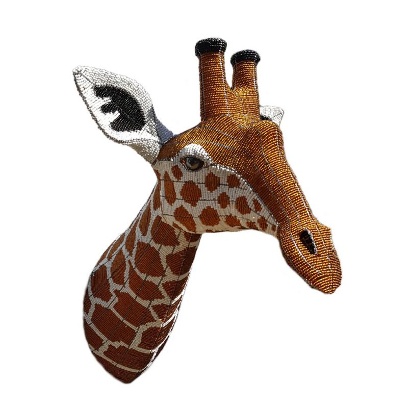 Giraffe - Bead Trophy Head - Masterpiece