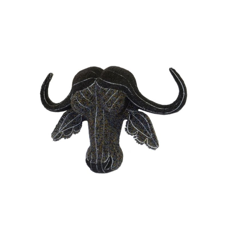 Water Buffalo - 2D Bead Sculpture