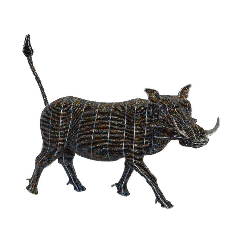 Warthog - Bead Sculpture - Small