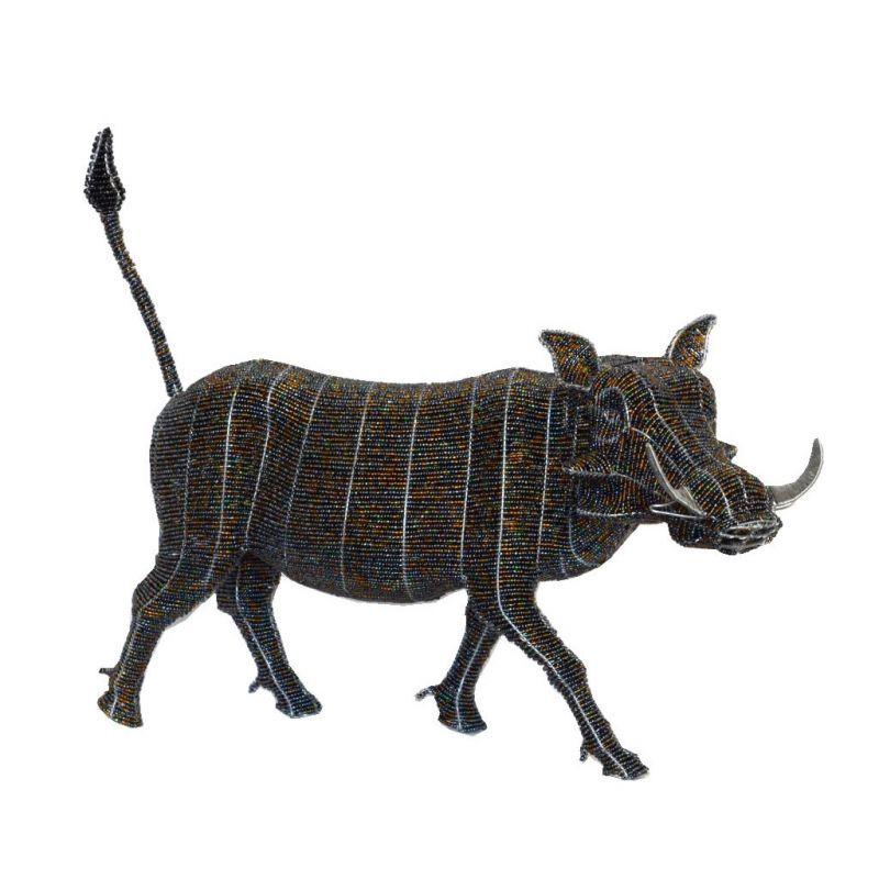 Warthog - Bead Sculpture - Small