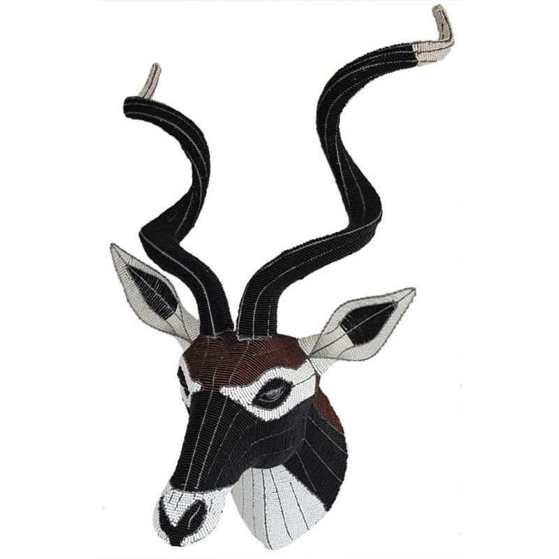 Black Deer - Bead Trophy Head - Masterpiece