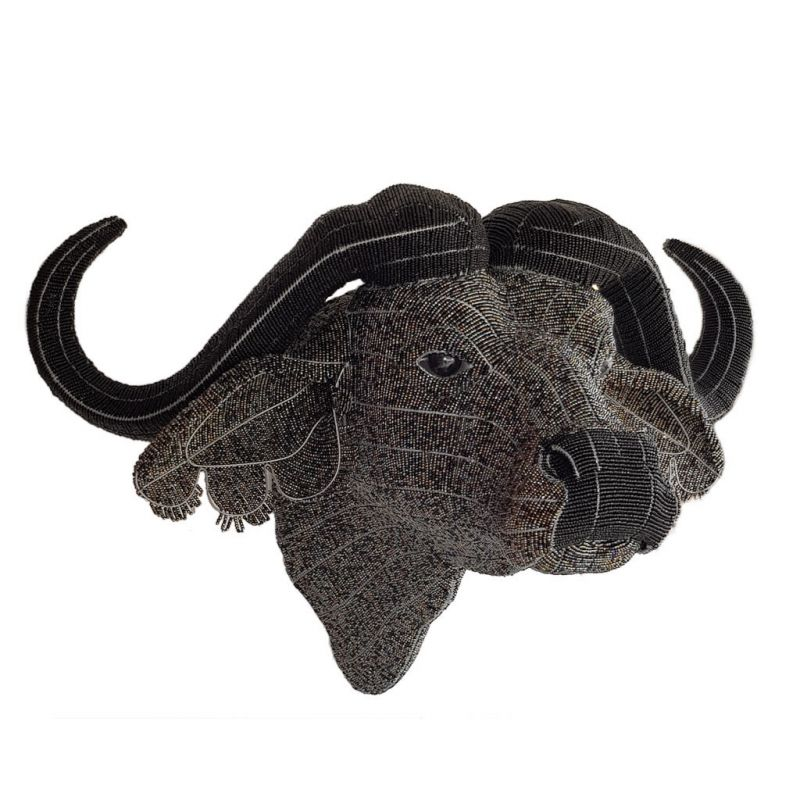 Water Buffalo - 'Mambo' - Bead Trophy Head - Masterpiece