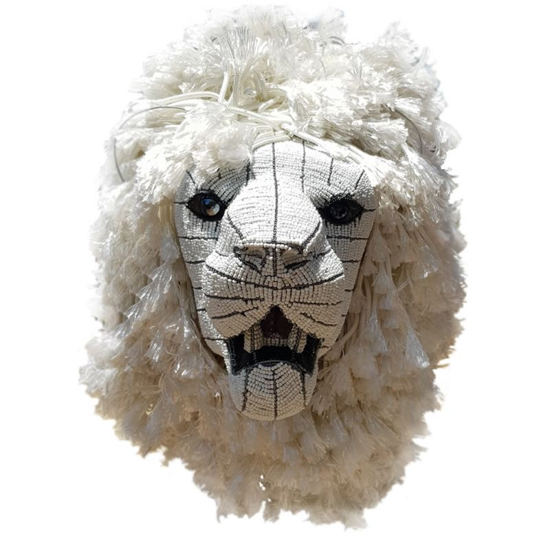 White Lion - Bead Trophy Head