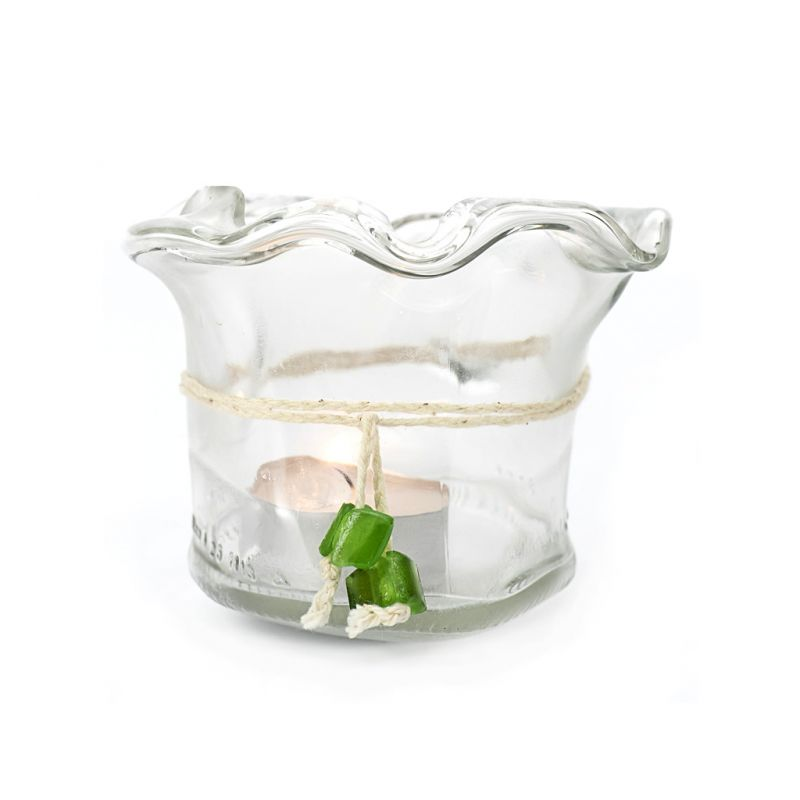 Candleholder/Vase - Recycled Glass - Clear