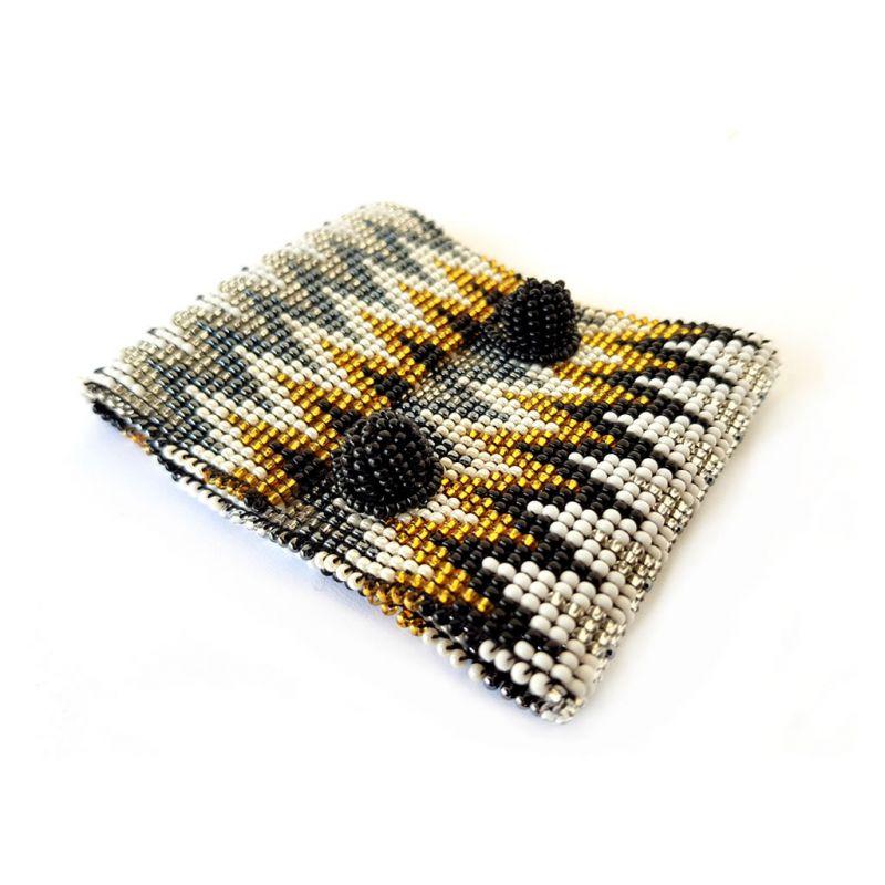 Bracelet - Woven Bead - Wide ZigZag