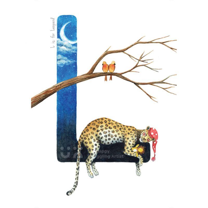 South African Animal Alphabet - Letter L - Print