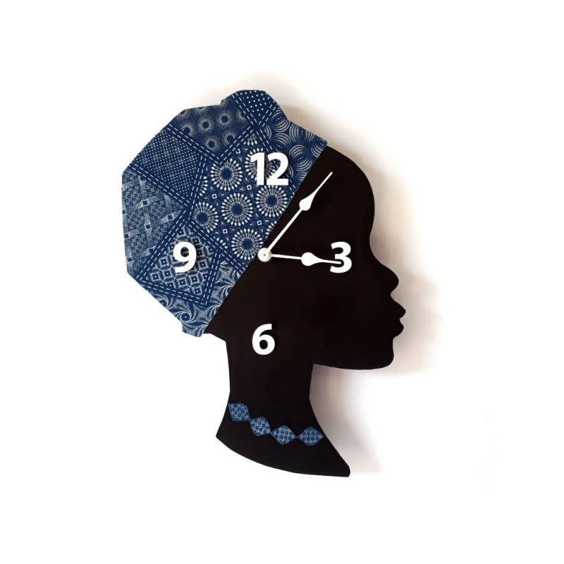 Clock - Wall Mounted - Lady in Blue
