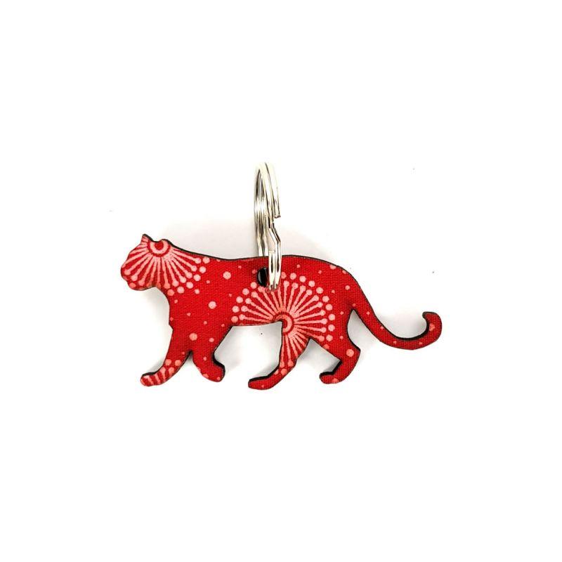 Keyring - Cheetah - Red