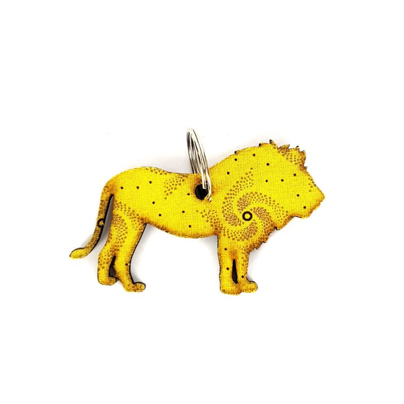 Keyring - Lion - Yellow