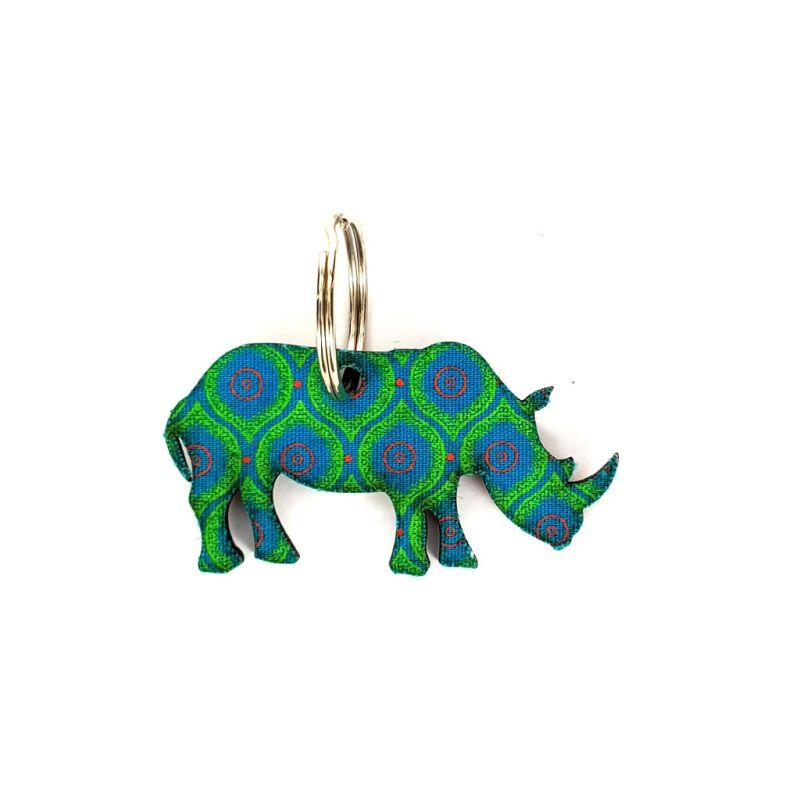 Keyring - Rhinoceros - Green