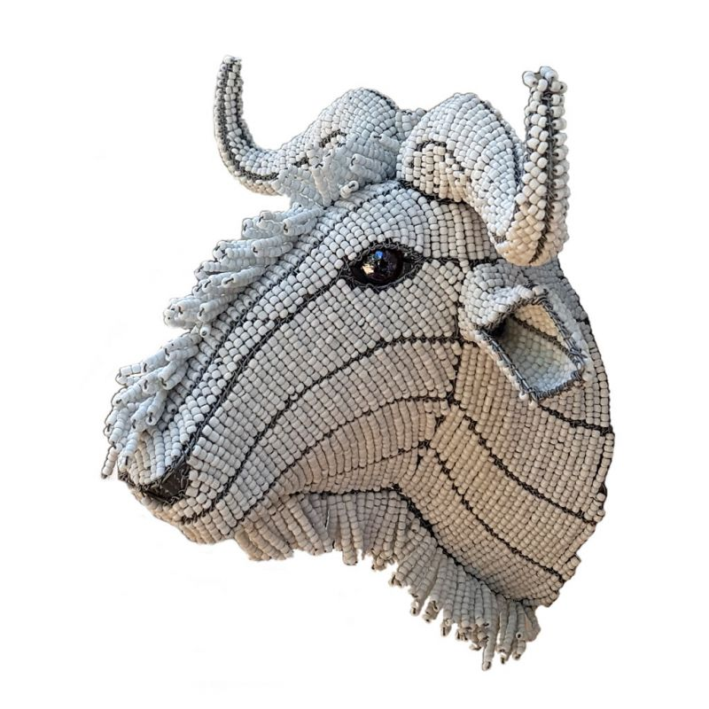 Wildebeest - Trophy Head - Small - White
